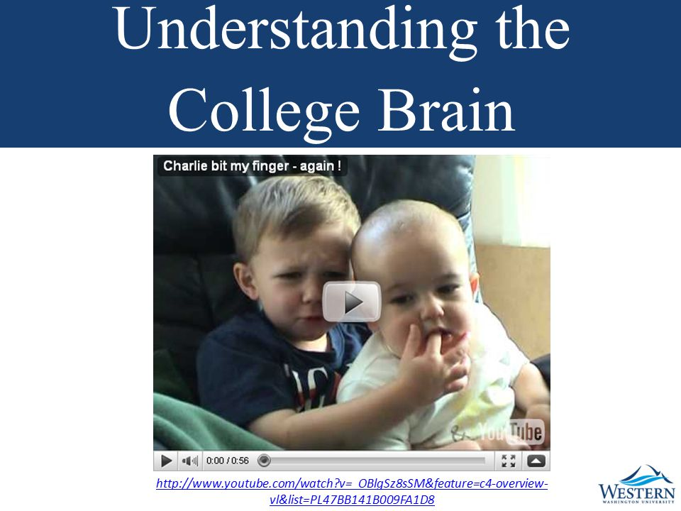 http://www.youtube.com/watch v=_OBlgSz8sSM&feature=c4-overview- vl&list=PL47BB141B009FA1D8 Understanding the College Brain