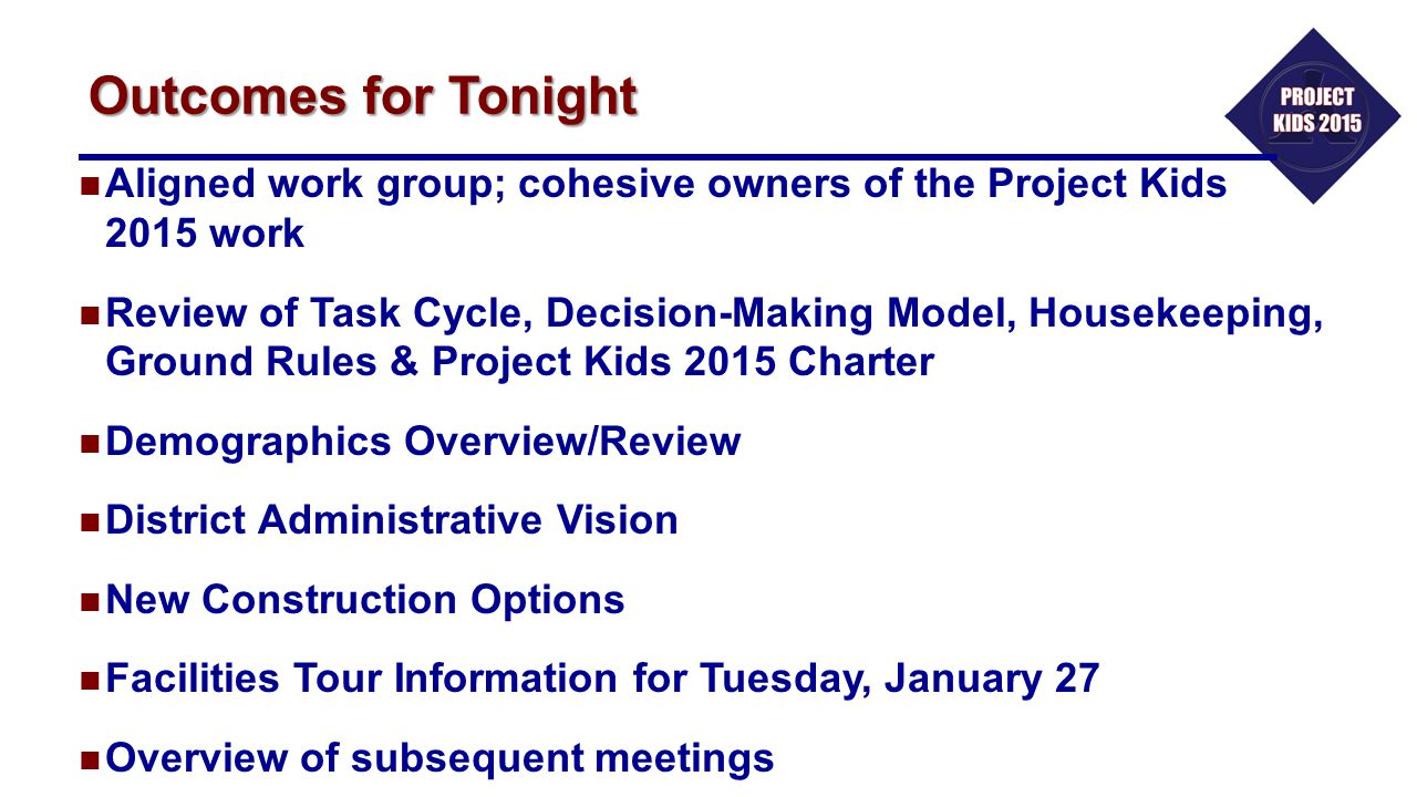 The Facilities Tour A Very Important Meeting for This Committee Tuesday, January 27 6:00: Dinner 6:30: Board buses for Facilities Tour Story Elementary School / Lowery Freshman Center / Dillard Center 8:45: Return to Administration Building Tim Carroll, Allen ISD Chief Information Officer