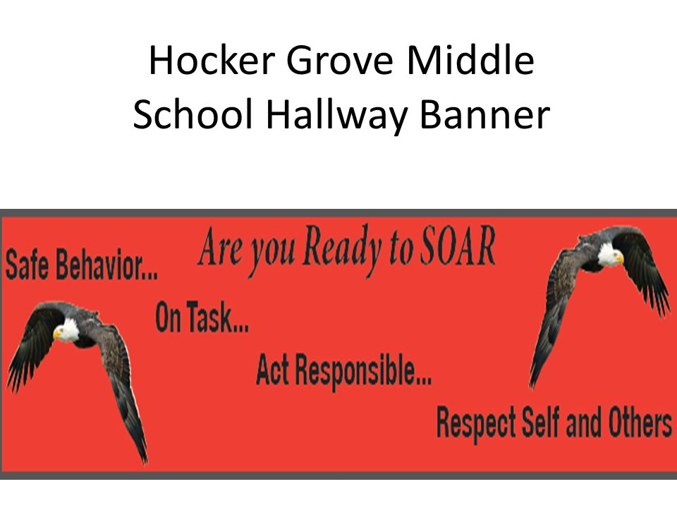 Hocker Grove Middle School Hallway Banner