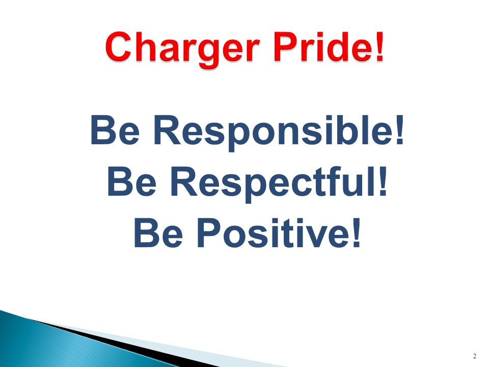 Be Responsible! Be Respectful! Be Positive! 2