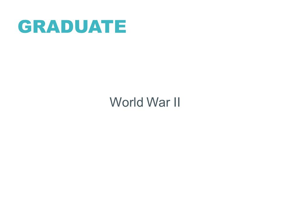 GRADUATE World War II