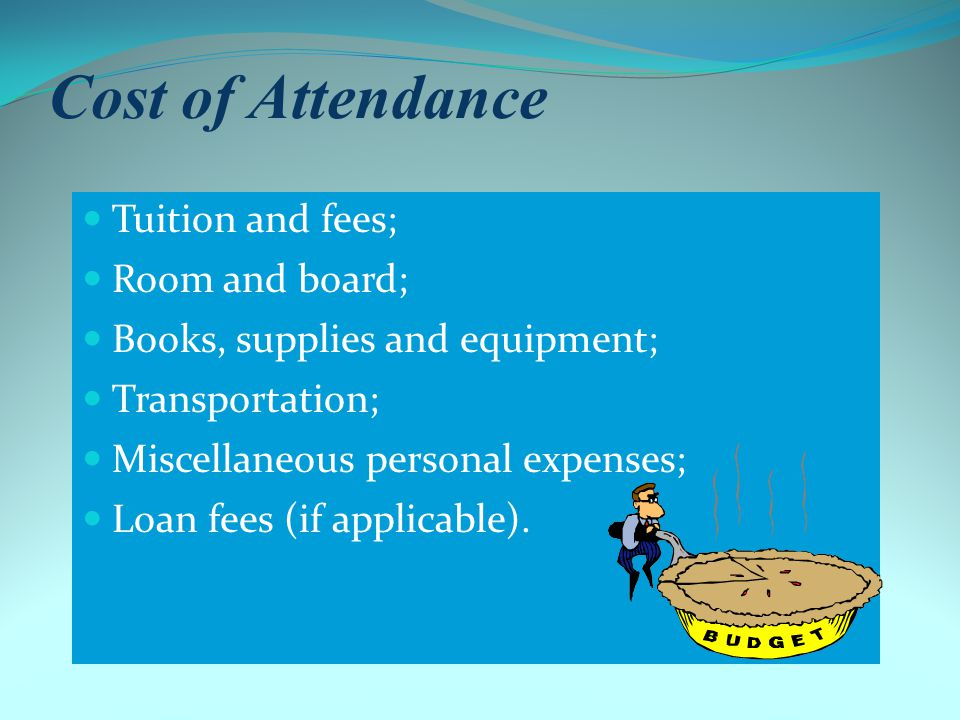 Definition of Need Cost of Attendance (COA) – Expected Family Contribution (EFC) = Financial Need