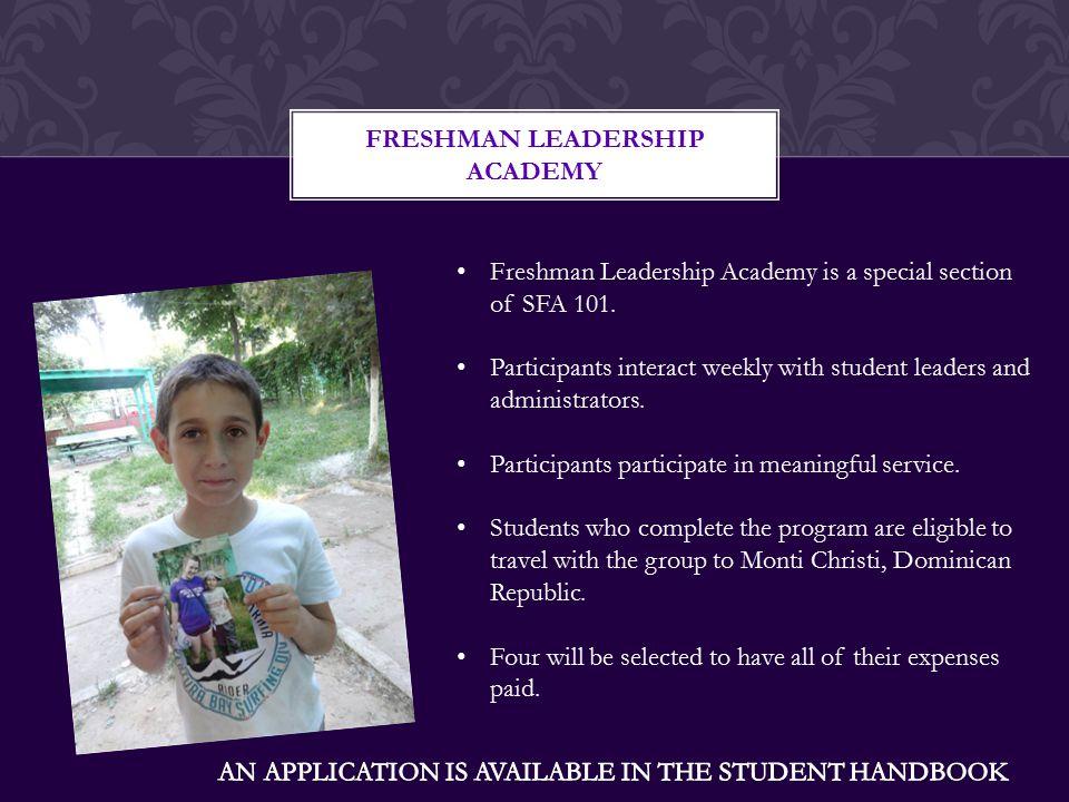 FRESHMAN LEADERSHIP ACADEMY