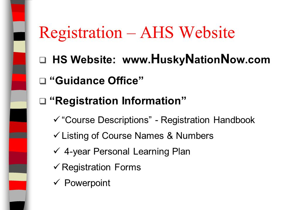 Registering Through Infinite Campus 1.Open Student Portal Account (will NOT work on parent portal) 2.Left side: select Course Registrations: Aurora High School 14-15 3.You will see a list of Required Courses that have been assigned to you 4.Select Course Search and enter only the NUMBER of the course that you are requesting (leave the name blank) 5.Select Request this Course 6.Note: if there are two numbers by a course it is a 10-credit course – you must enter both numbers 7.Select 2 to 4 alternate courses by selecting Request as an Alternate