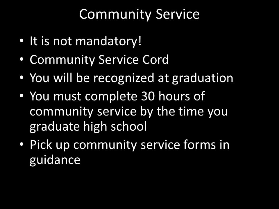 Community Service Importance of Community Service It has the largest scholarship opportunities National Honor Society requirement Giving back to your community has a rewards in itself Finding what you love to do