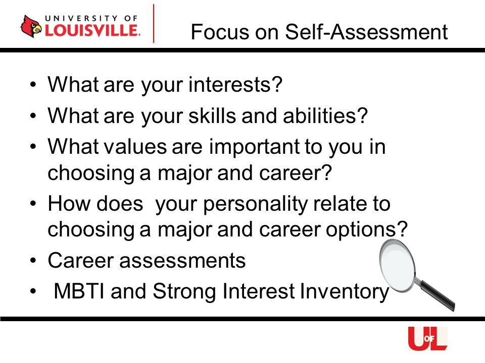 What are your interests. What are your skills and abilities.