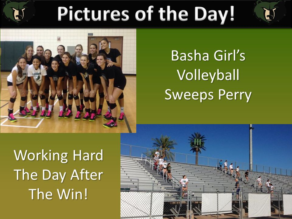 Basha Girl's Volleyball Sweeps Perry Working Hard The Day After The Win!