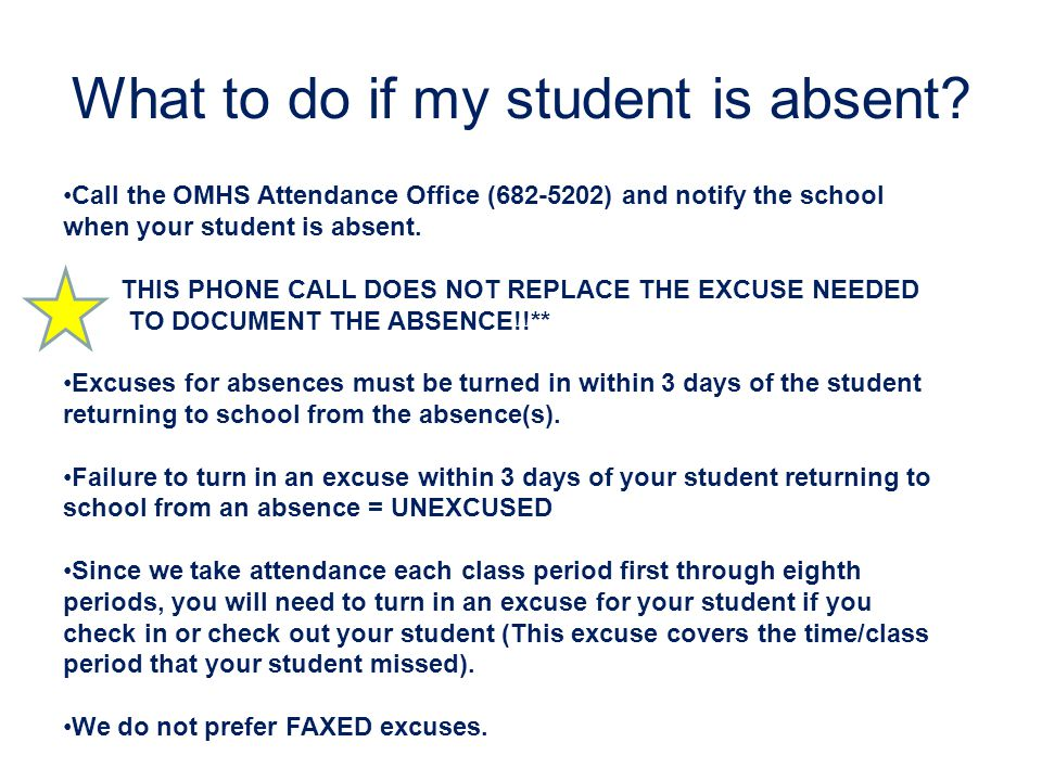 How to read my student's attendance record The following absence codes may appear on your child's attendance record: X = absence 1X = Illness documented by a parent note 2X = Doctor's note 3X = Court excuse 4X = Principal's Permission/Death in the immediate family 5X = Suspension 6X = Parent Note Unexcused (Turned in AFTER 3 day deadline) 7X = No note or explanation Absences beyond 12 (excluding 2X and 3X absences) must be documented with a doctor's or court excuse or permission of the principal.