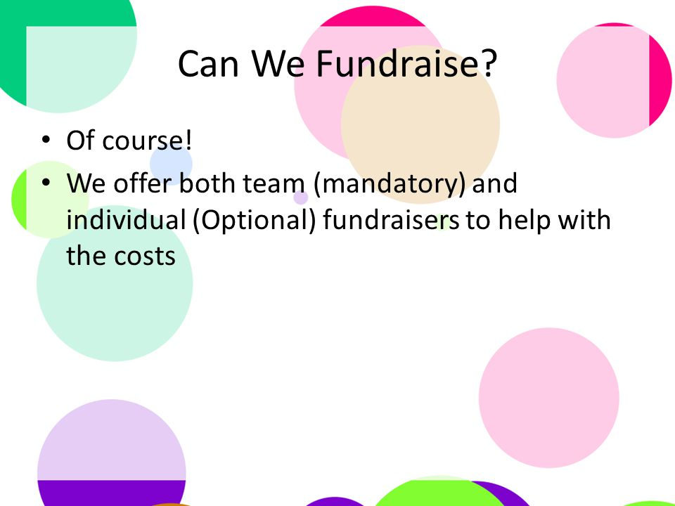 Can We Fundraise. Of course.