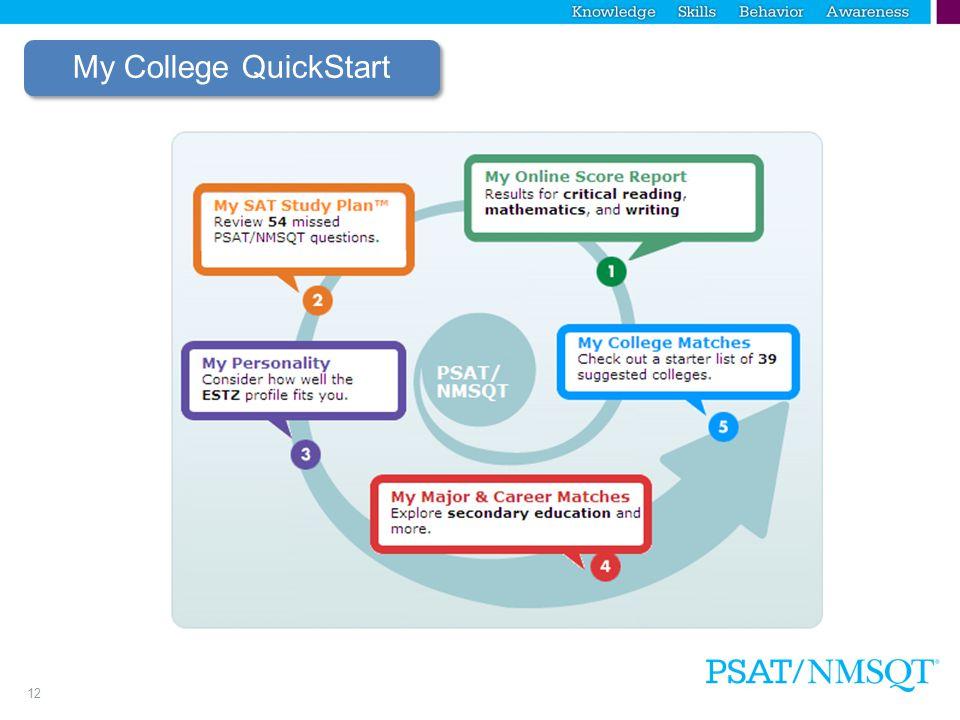 12 My College QuickStart