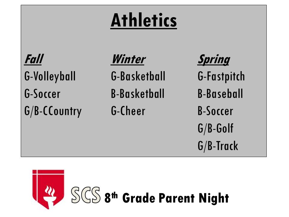 Athletics FallWinterSpring G-VolleyballG-BasketballG-Fastpitch G-SoccerB-BasketballB-Baseball G/B-CCountryG-CheerB-Soccer G/B-Golf G/B-Track