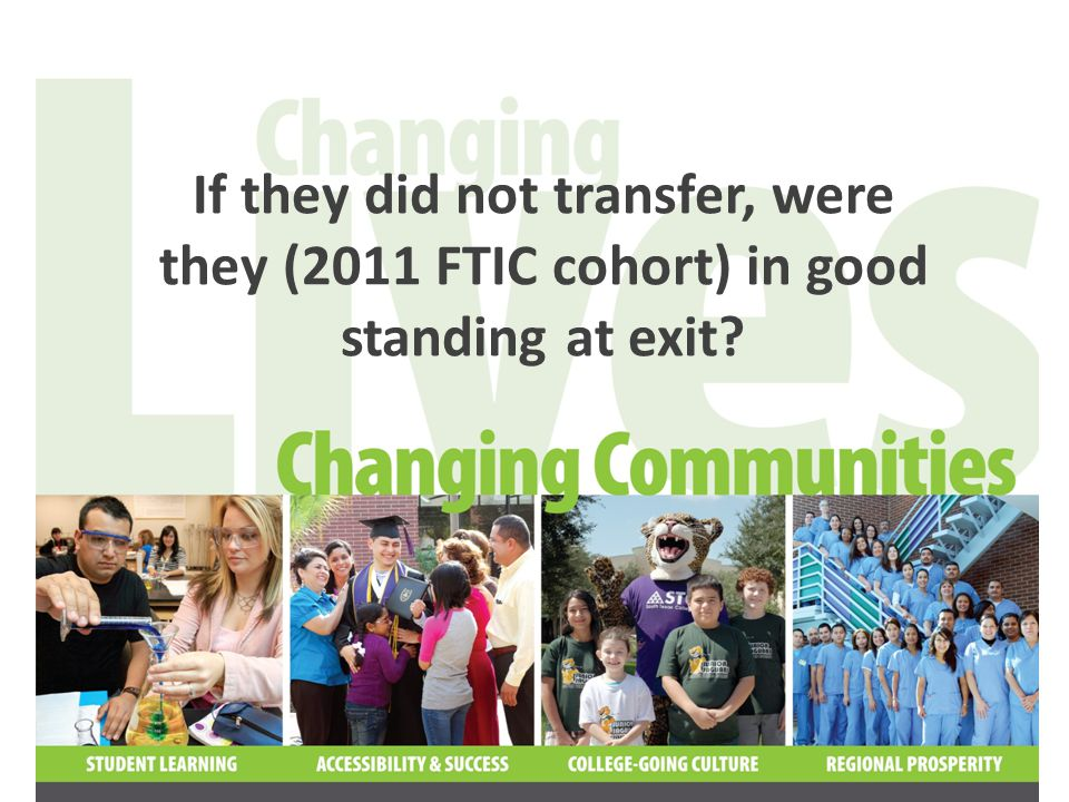 If they did not transfer, were they (2011 FTIC cohort) in good standing at exit