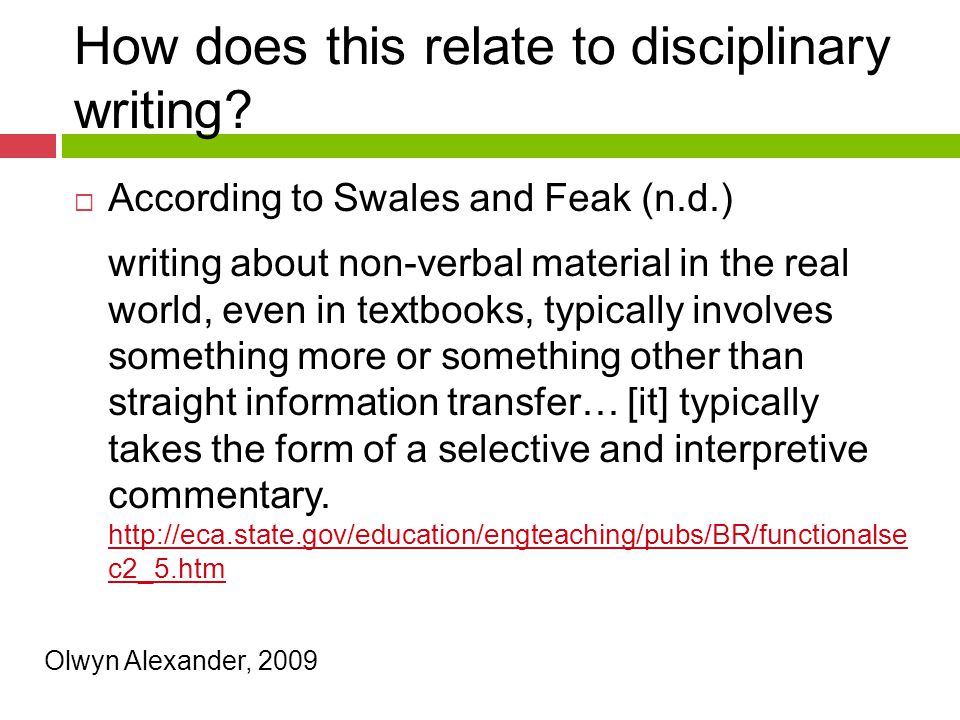 How does this relate to disciplinary writing.