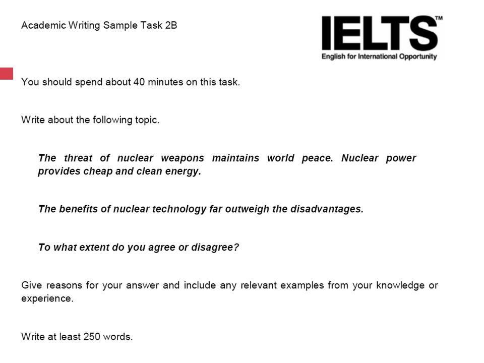 Exam Essay Tasks