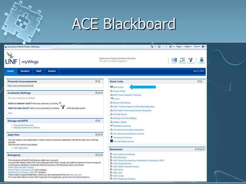 ACE Blackboard