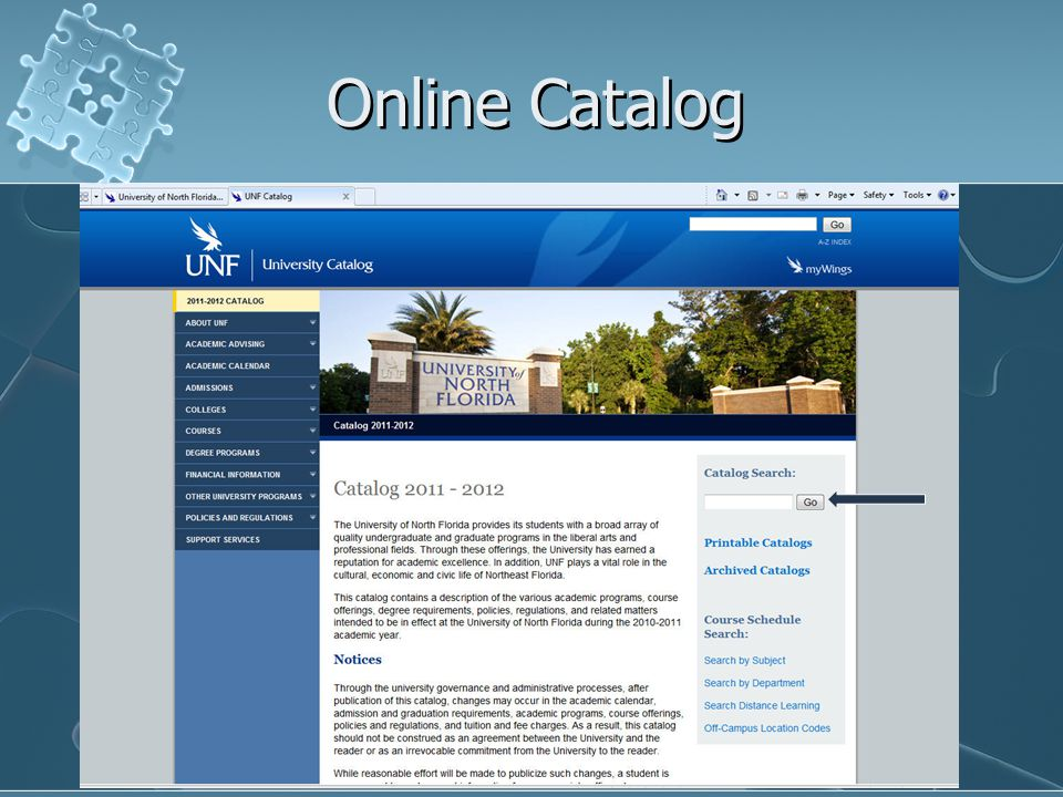 Online Catalog By clicking on the hyperlink for the major, you can view all the prerequisites and major requirements