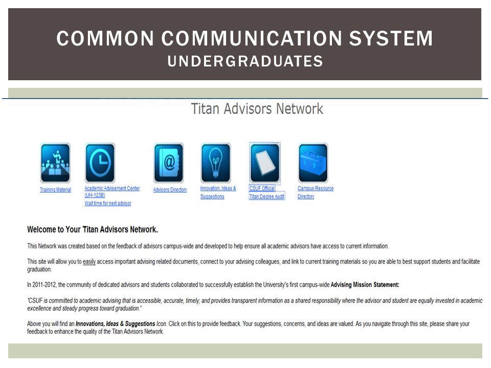 COMMON COMMUNICATION SYSTEM UNDERGRADUATES