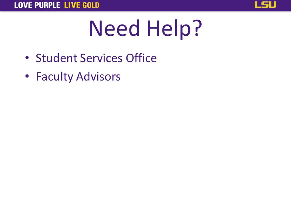 Need Help Student Services Office Faculty Advisors