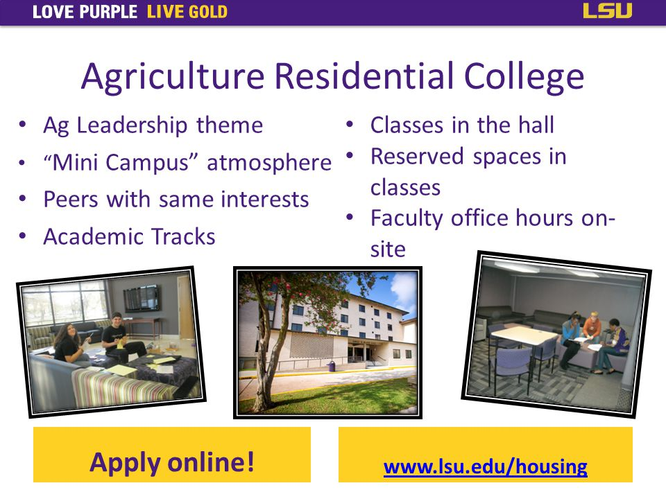 Agriculture Residential College Apply online.