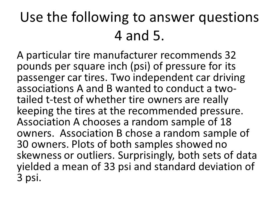 Use the following to answer questions 4 and 5.