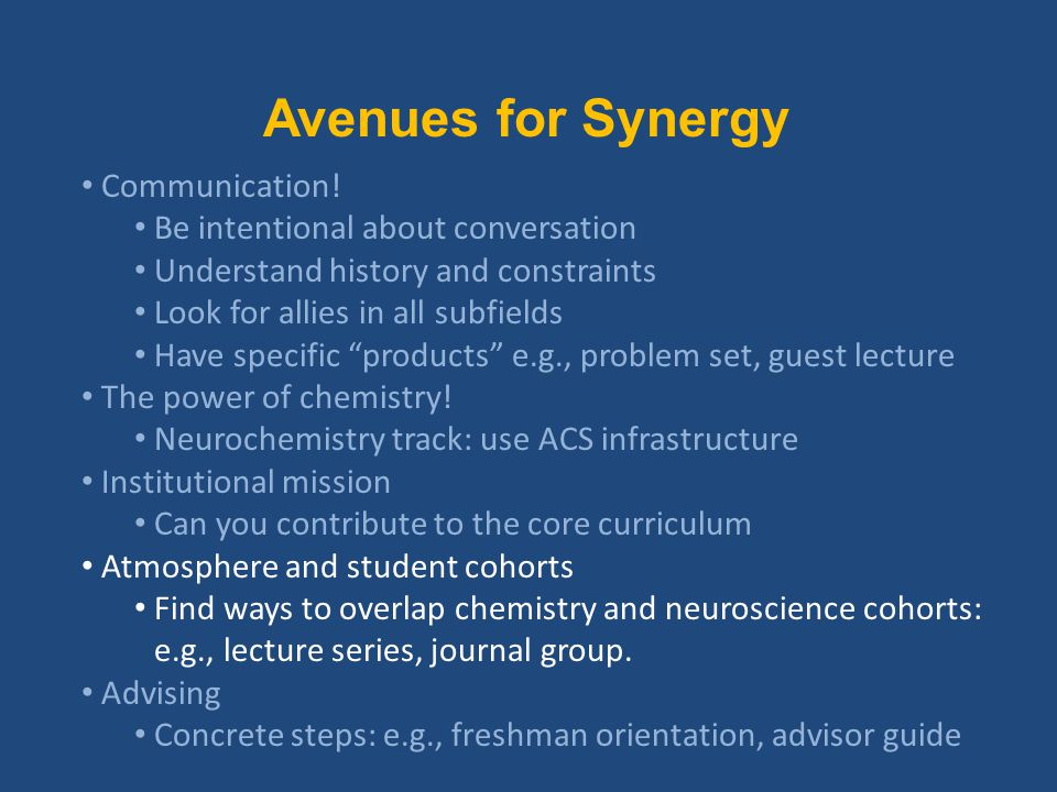 Avenues for Synergy Communication.