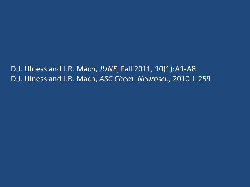 D.J. Ulness and J.R. Mach, JUNE, Fall 2011, 10(1):A1-A8 D.J.