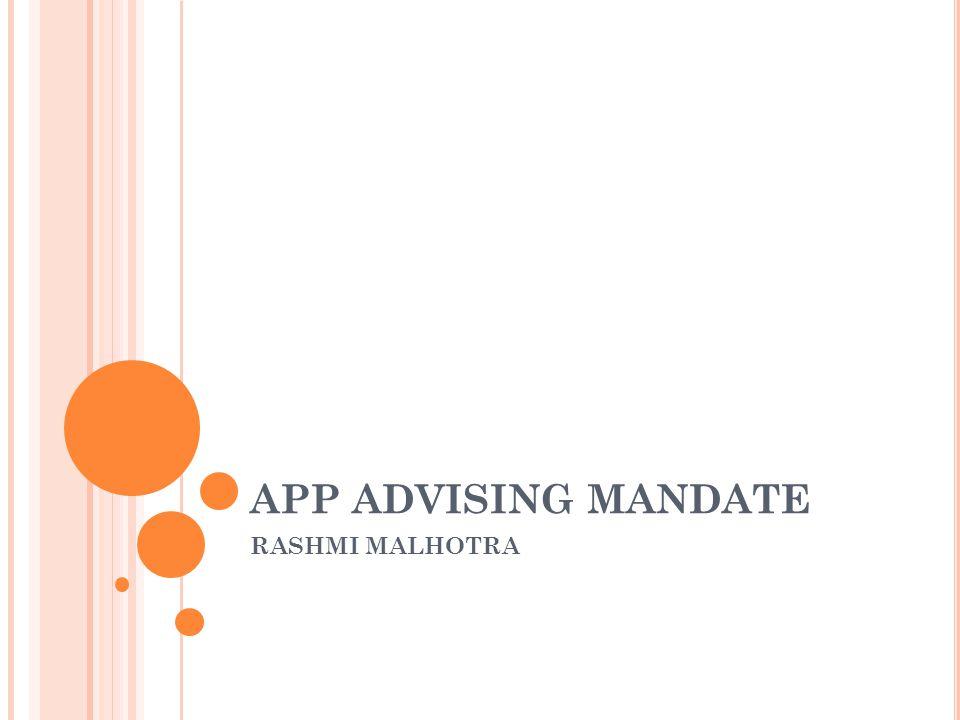 APP ADVISING MANDATE RASHMI MALHOTRA