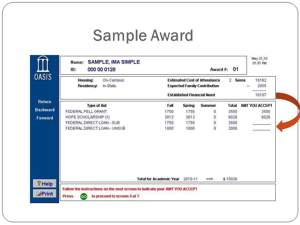 Sample Award