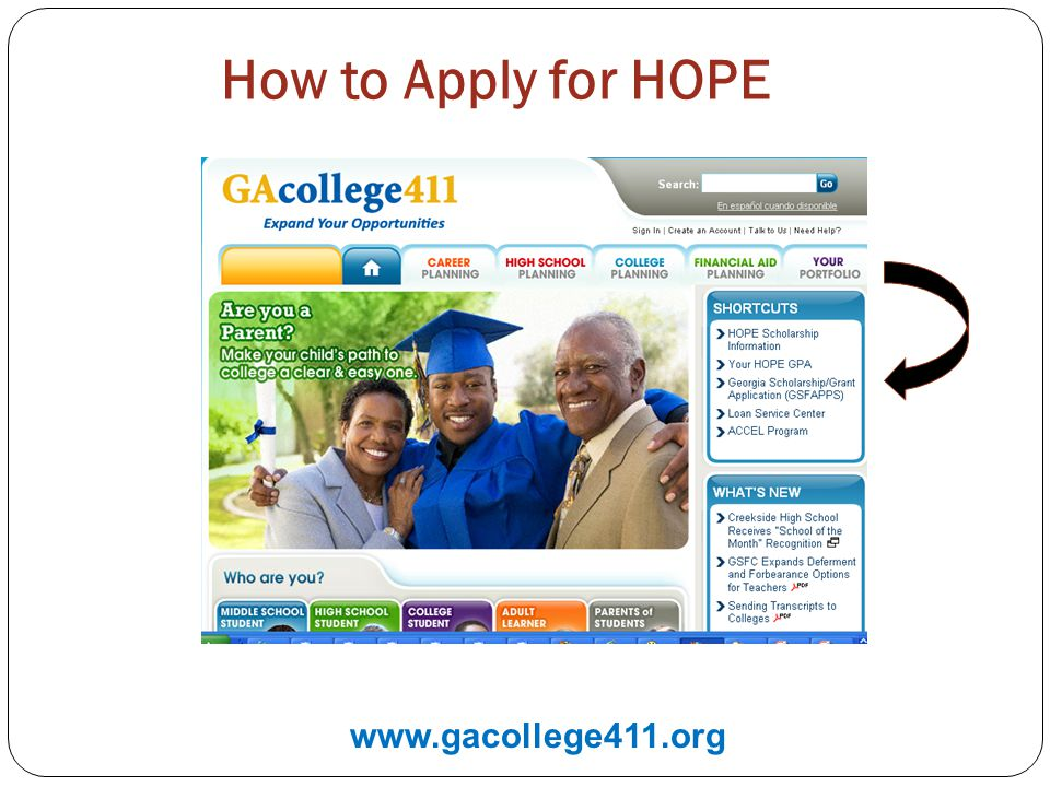 How to Apply for HOPE www.gacollege411.org