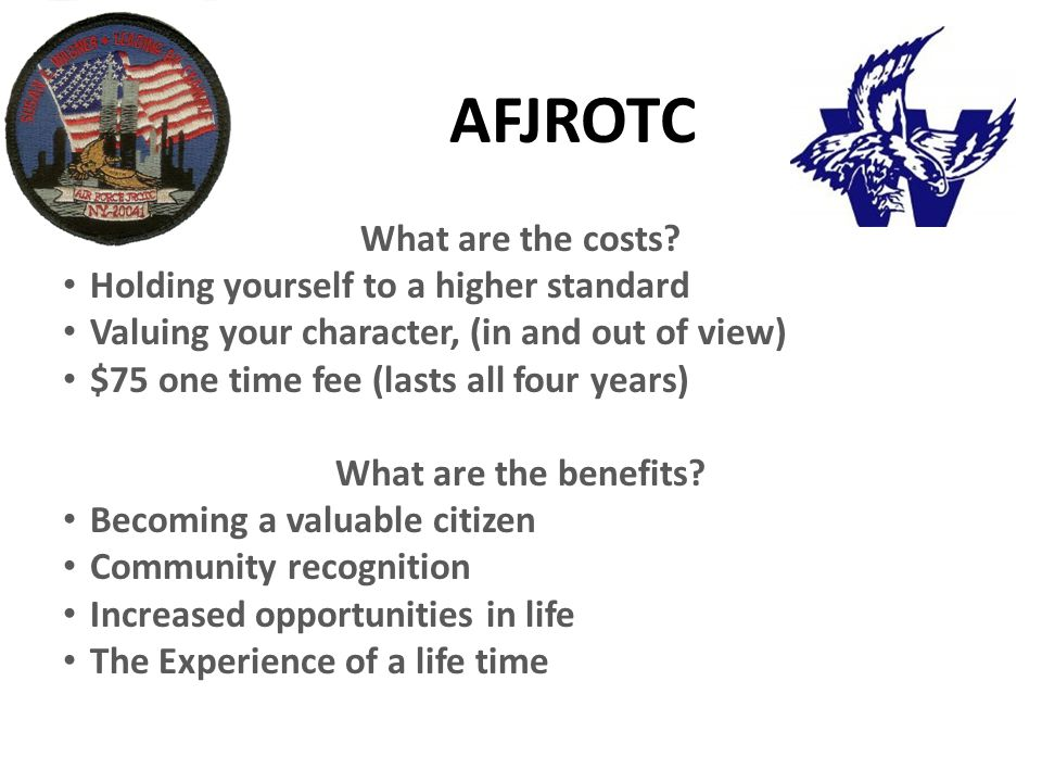 AFJROTC What are the costs.