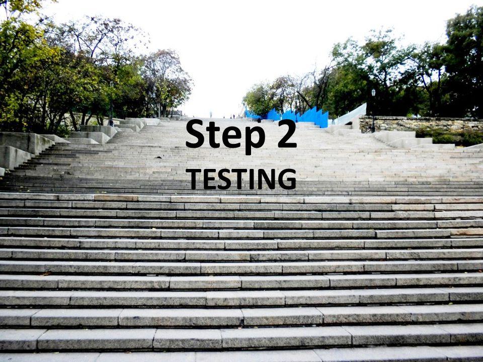 Step 2 TESTING