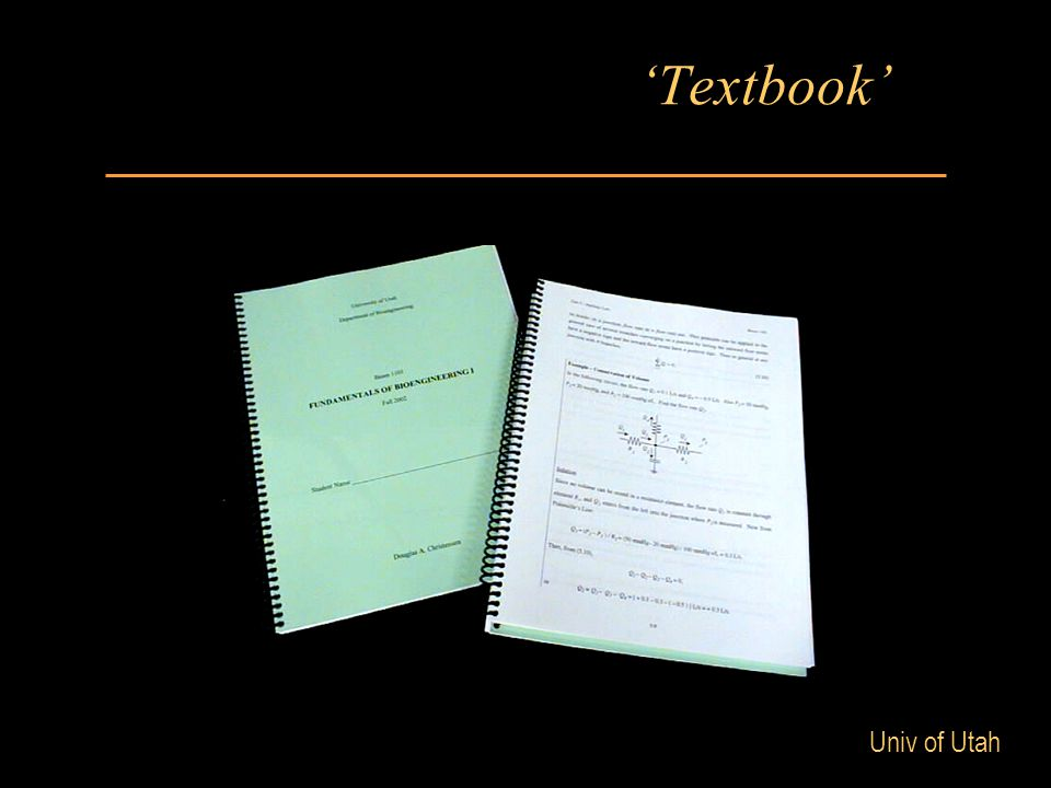 Univ of Utah 'Textbook'