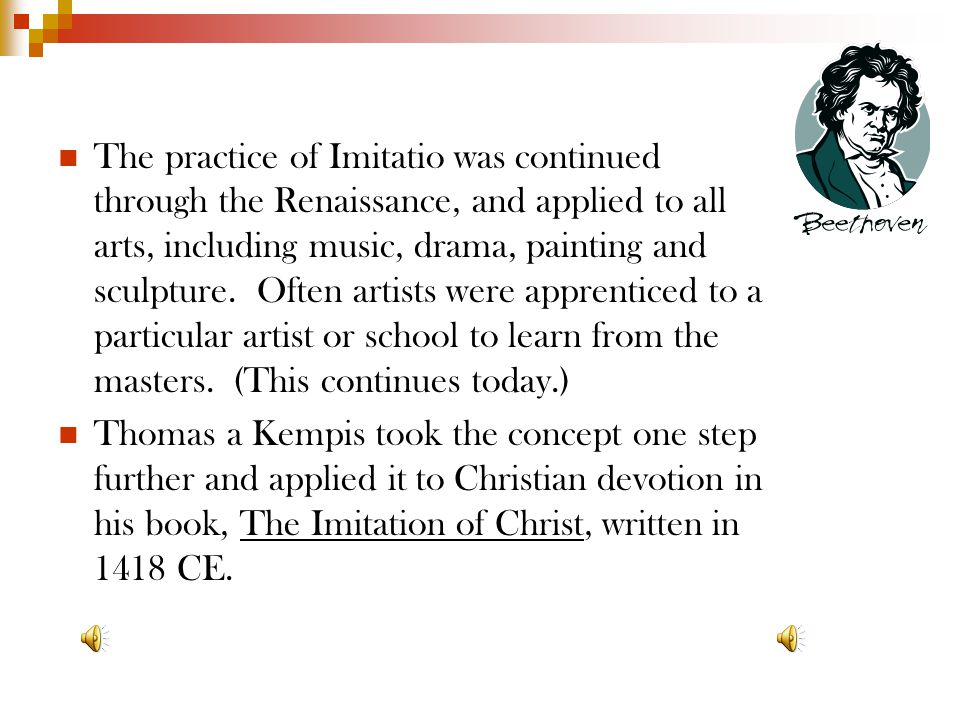 Issues of Imitatio Whom do I imitate? One source, or many? Should the teacher produce his own examples? Can examples be used to show what NOT to do? D