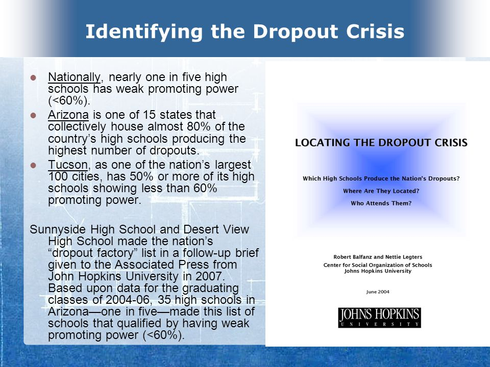 SUSD Reality Check Freshman failure rates in algebra 2006 Algebra I grades are an important predictor of whether students drop out or graduate; students who failed this course were 4.1 times more likely to drop out than those who passed the course.