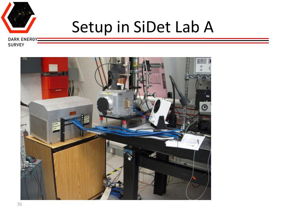 35 Setup in SiDet Lab A