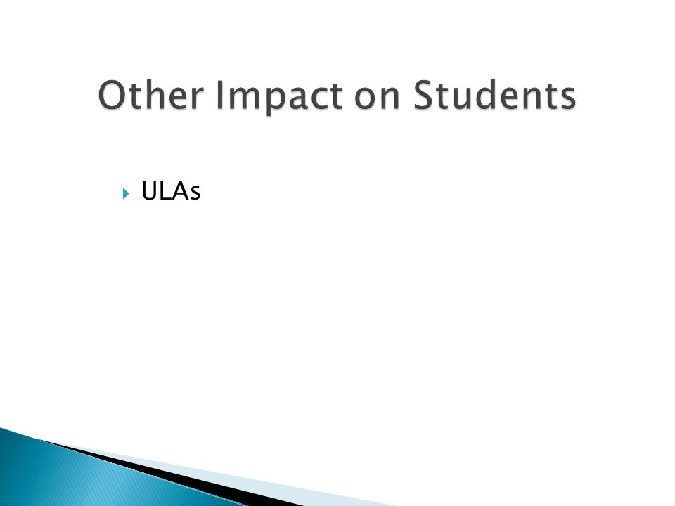 Other Impact on Students  ULAs