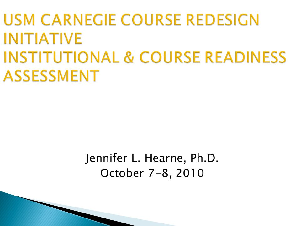 Jennifer L. Hearne, Ph.D. October 7-8, 2010
