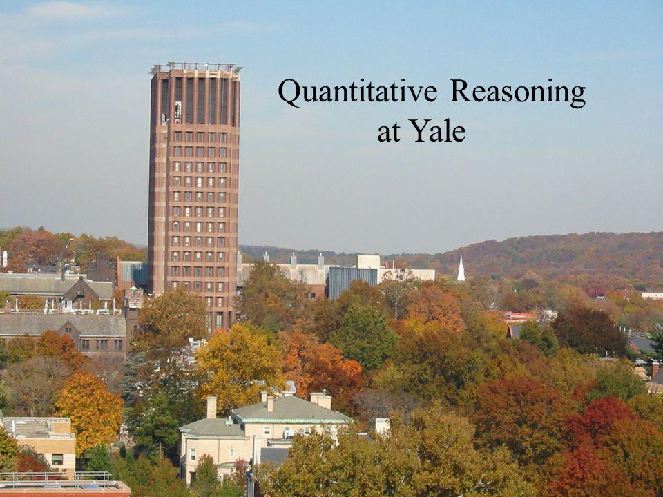 Quantitative Reasoning at Yale