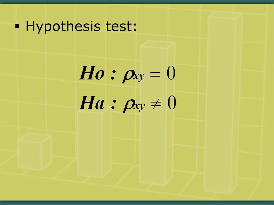  Hypothesis test: