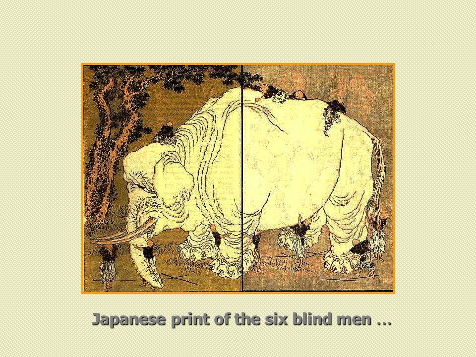 Japanese print of the six blind men …