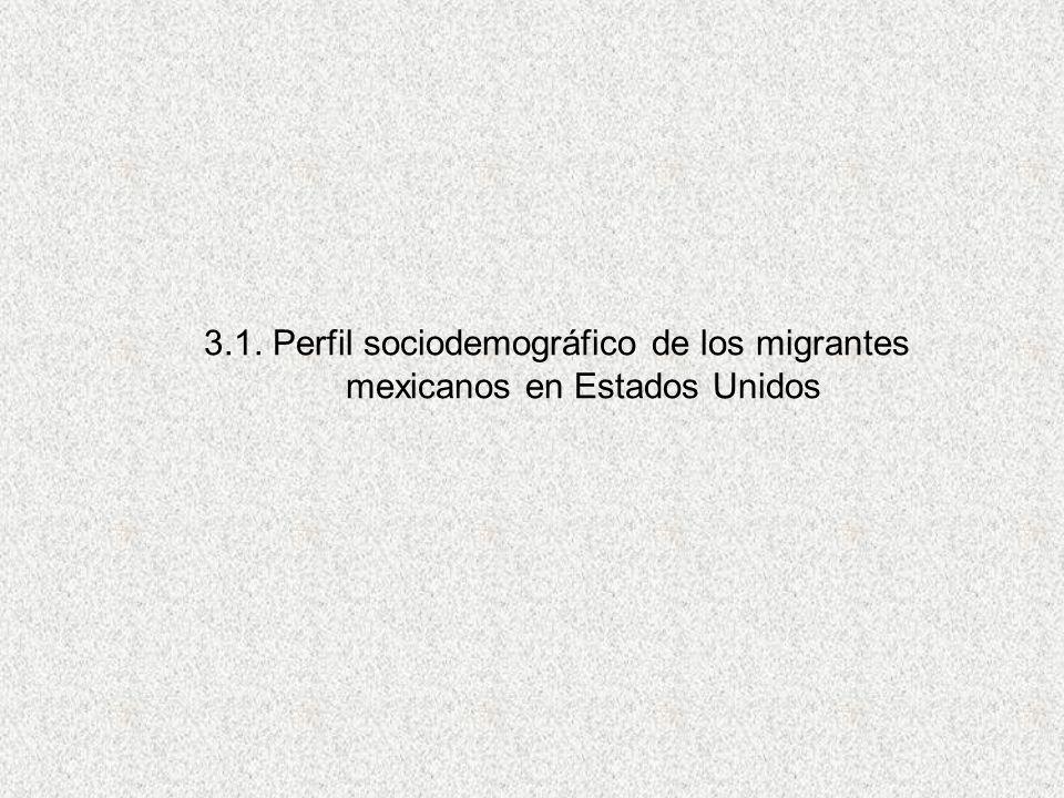 3.1. Perfil sociodemográfico de los migrantes mexicanos en Estados Unidos