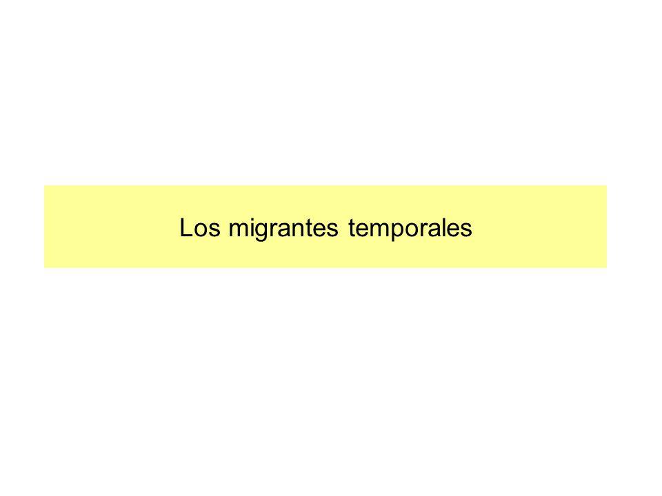 Los migrantes temporales