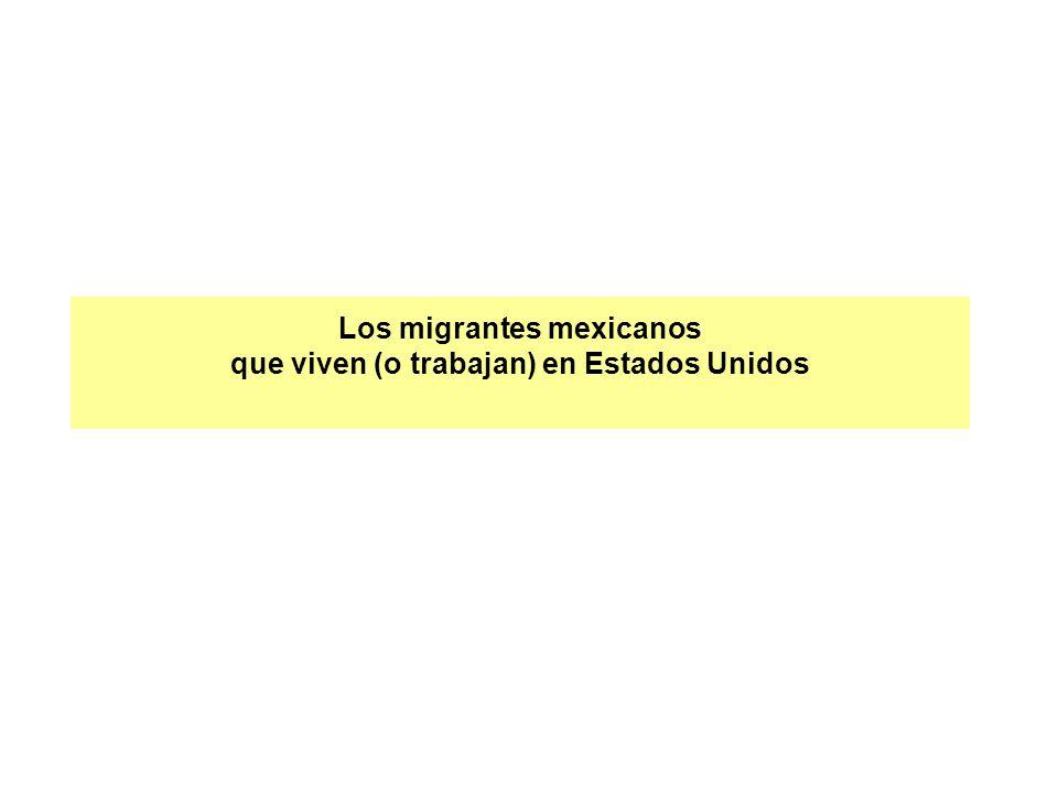 Los migrantes mexicanos que viven (o trabajan) en Estados Unidos