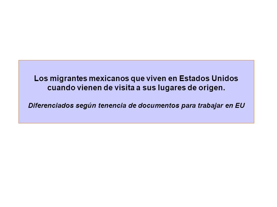 Los migrantes mexicanos que viven en Estados Unidos cuando vienen de visita a sus lugares de origen.