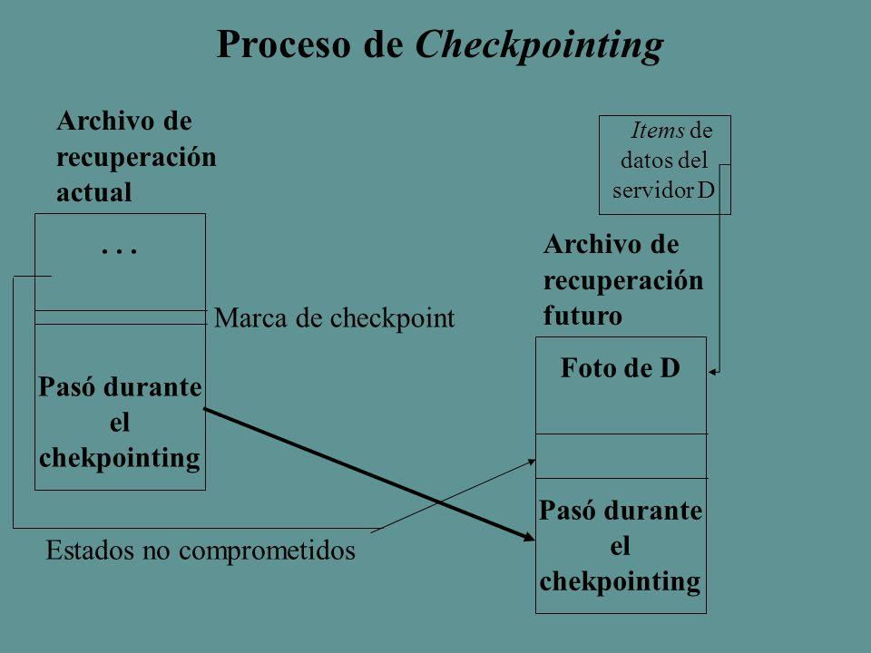 Proceso de Checkpointing...