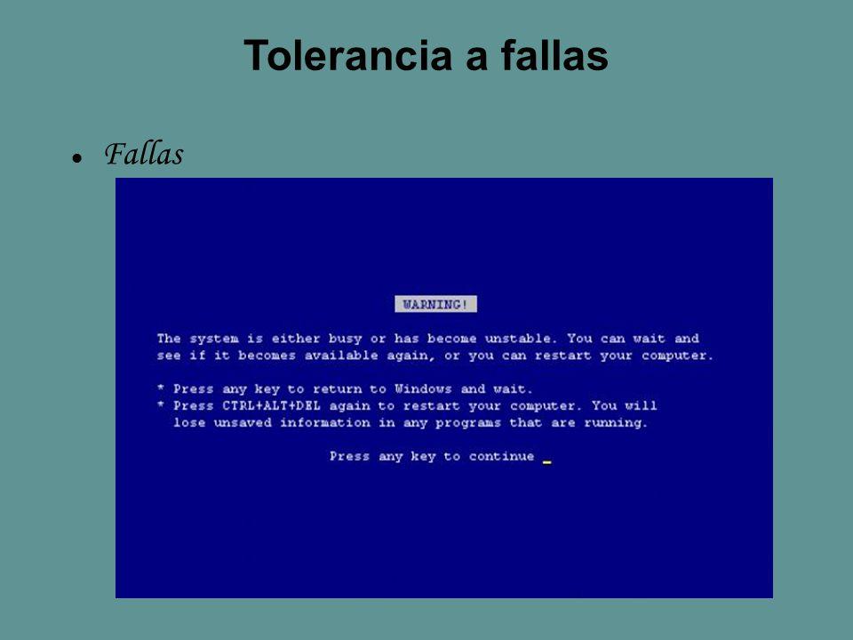 Tolerancia a fallas Fallas