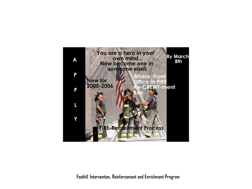 Foothill Intervention, Reinforcement and Enrichment Program