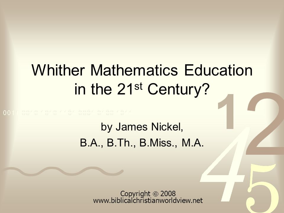 Problem Solving The logical methods of mathematics train the mind in systematically approaching and solving, not only mathematical problems, but … … other problems as well; especially those germane to conflict resolution or ethical infractions.