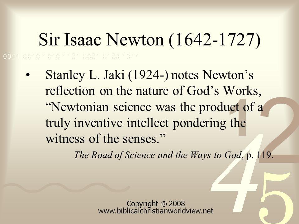 Sir Isaac Newton (1642-1727) Stanley L.