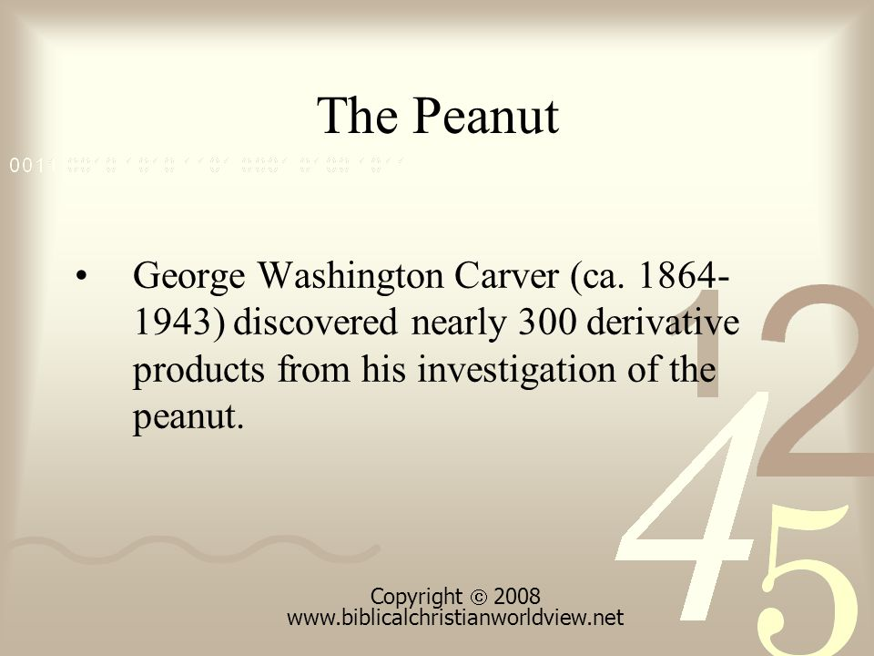 The Peanut George Washington Carver (ca.